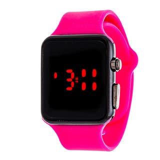 Zunammy Digital Core Ladies Sport Digital with Pink Rubber Strap Watch|https://ak1.ostkcdn.com/images/products/11663827/P18593383.jpg?impolicy=medium
