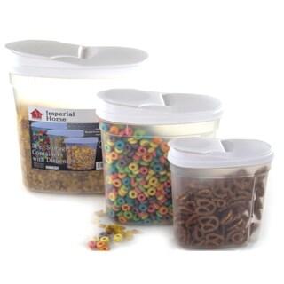 Plastic Food Storage Container Cereal Dispenser Set (3 Piece)