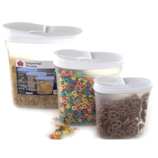 Shop Plastic Food Storage Container Cereal Dispenser Set (3