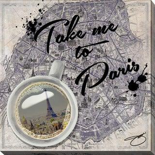 BY Jodi 'Take Me To Paris' Giclee Print Canvas Wall Art