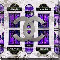 BY Jodi 'Shop Chanel in purple' Giclee Print Canvas Wall Art