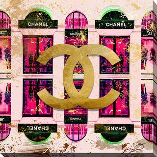 BY Jodi 'Shop Chanel in Pink' Giclee Print Canvas Wall Art