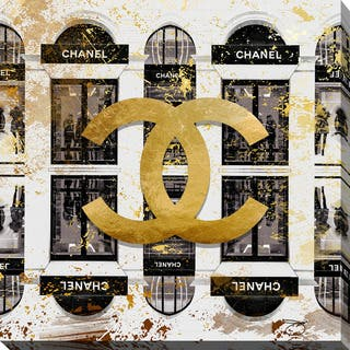 BY Jodi 'Shop Chanel in black' Giclee Print Canvas Wall Art