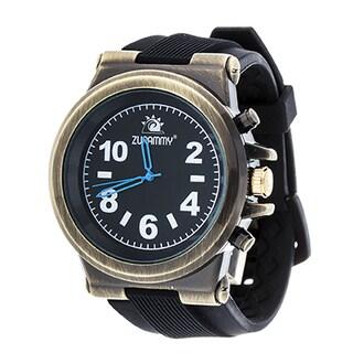 Zunammy Men's Copper and Black Dial / Black Rubber Strap Watch