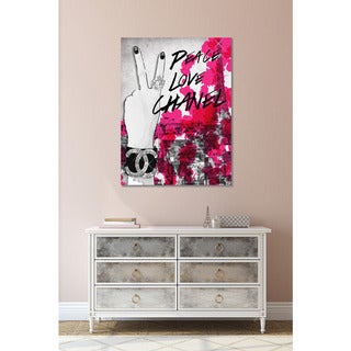 BY Jodi 'Peace, Love, Chanel' Giclee Print Canvas Wall Art