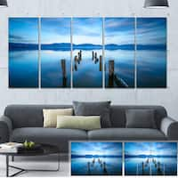 Designart 'Deep into the Sea Pier' Seascape Photo Canvas Print