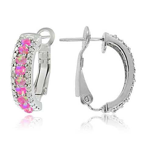4bf140e661414 Pink, Hoop Earrings | Find Great Jewelry Deals Shopping at Overstock