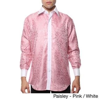 Ferrecci Men's Satine Geometric and Paisley Dress Shirt