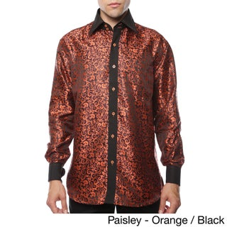 Ferrecci Men's Satine Geometric and Paisley Dress Shirt (More options available)