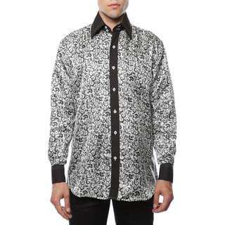 Ferrecci Men's Satine Geometric and Paisley Dress Shirt|https://ak1.ostkcdn.com/images/products/11664000/P18593501.jpg?impolicy=medium