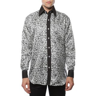 Ferrecci Men's Satine Geometric and Paisley Dress Shirt