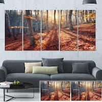 Designart 'Crimean Mountains Tree Shade' Landscape Photo Canvas Print - YELLOW