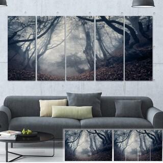 Designart 'Vintage Path in Autumn Forest' Landscape Photo Canvas Print