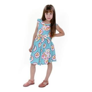 Jelly the Pug Girls' Alex Sleeveless Round Neck Dress