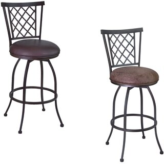 Armen Living Reno 30-inch Metal Swivel Bar Height Barstool