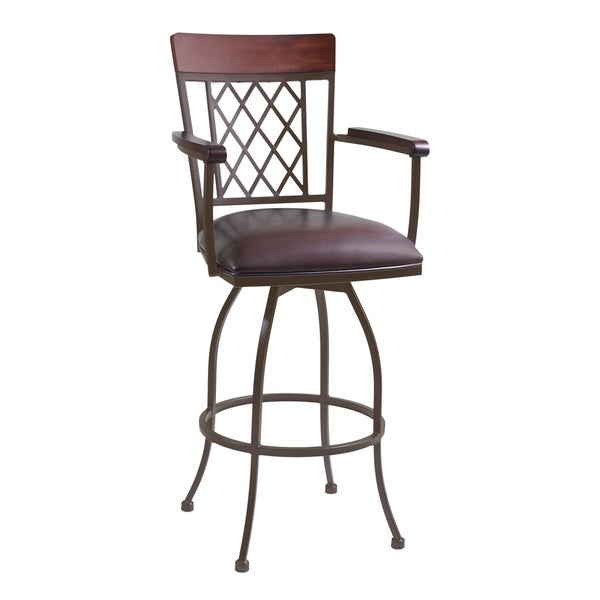 Shop Armen Living Napa 30 Quot Bar Height Arm Barstool In