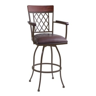 Armen Living Napa Arm Metal Swivel Counter or Bar Height Barstool