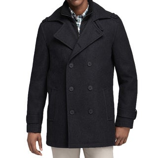 Andrew Marc Gray Penn Wool Peacoat (Size 2XL)