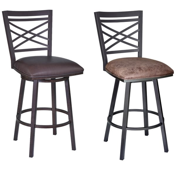 Armen Living Fargo 30 inch Metal Swivel Bar Height  : Armen Living Fargo 30 inch Metal Swivel Bar Height Barstool d00209ee 15b8 4c0e bbf9 f7bab809e863600 from www.overstock.com size 600 x 600 jpeg 53kB