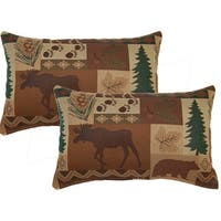 Summit Evergreen 12-inch Throw Pillows (Set of 2)