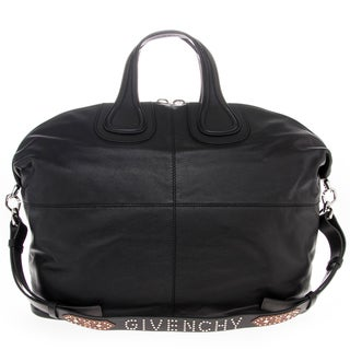 Givenchy Grained Leather Nightingale with Embellished Strap