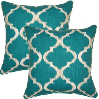 Kobe Teal 17-inch Throw Pillows (Set of 2)