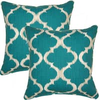 Kobe Teal 17-inch Throw Pillows (Set of 2)