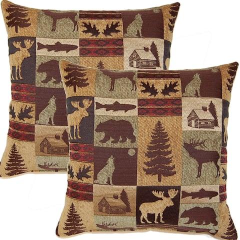 Fairbanks Evergreen 17-inch Throw Pillows (Set of 2)
