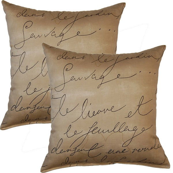 Pen Pal 17-inch Throw Pillows (Set of 2)