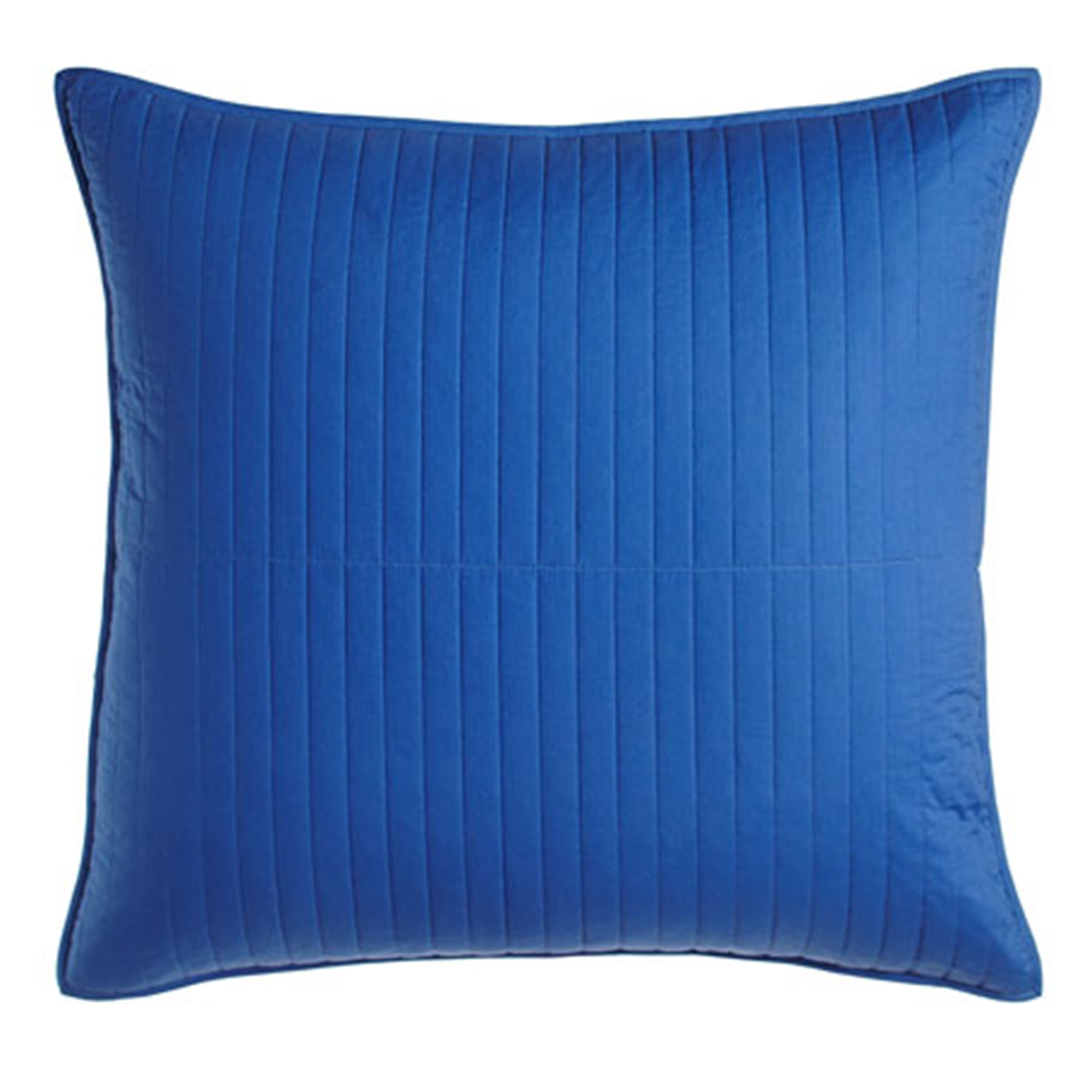 Dransfield And Ross Darby Quilted European Sham (Blue Vis...