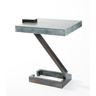 Handmade Z Shape Fire Finish Metal End Table (Mexico)