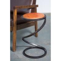 Handmade Spiral End Table