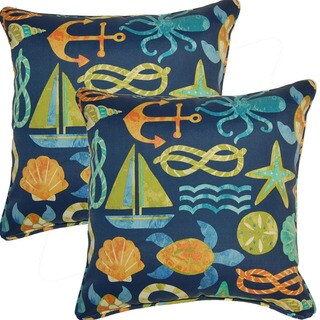 Seapo-incht Neptune 17-inch Throw Pillows (Set of 2)