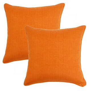 Husk Texture Mango 17-inch Throw Pillows (Set of 2)