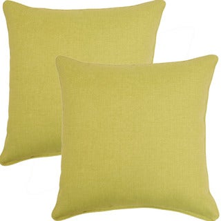 Husk Texture Leaf 17-inch Throw Pillows (Set of 2)