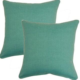 Husk Texture Lagoon 17-inch Throw Pillows (Set of 2)