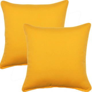 Fresco Yellow 17-inch Corded Throw Pillows (Set of 2)