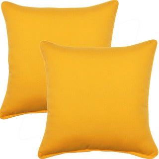 Fresco Yellow 17-inch Corded Throw Pillows (Set of 2)