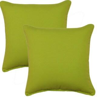 Fresco Lime 17-inch Corded Throw Pillows (Set of 2)