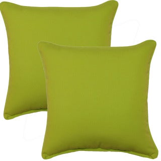 Fresco Lime 17-inch Corded Throw Pillows (Set of 2)