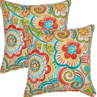Bronwood Carnival 17-inch Corded Throw Pillows (Set of 2)
