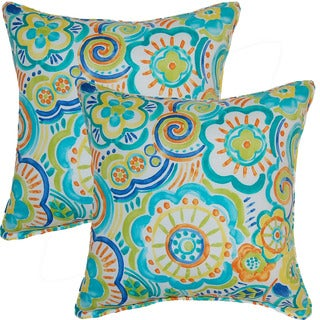 Bronwood Caribbean 17-inch Corded Throw Pillows (Set of 2)