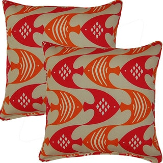 Ocean Current Tropic 17-inch Corded Throw Pillows (Set of 2)
