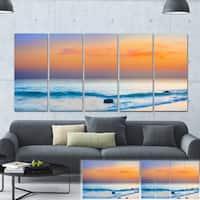Designart 'Orange Sunset Panorama' Photo Canvas Art Print - Orange