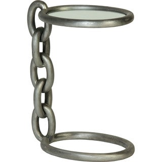 Chain Link Accent Table with Mirror Top