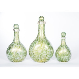Bottles with Tops in Algae Bloom (Set of 3)