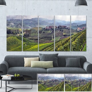 Designart 'Vineyards in Italy Panoramic' Photo Canvas Print
