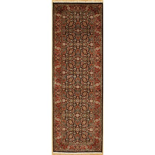 Hand-knotted with Herati Design Runner Rug (2' 8 x 7' 11)