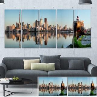 Designart 'Toronto City Skyline Panorama' Cityscape Photography Large Canvas Print