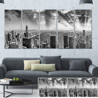 Designart 'Central Park and Surrounding Buildings' Cityscape Photo Large Canvas Print